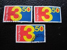 NORVEGE - timbre yvert et tellier n° 917 x3 obl (A30) stamp norway