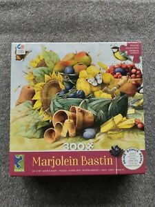 "MARJOLEIN BASTIN Clay Pots 300 PIECE JIGSAW PUZZLE 24"" x 18"" Sunflower Garden"
