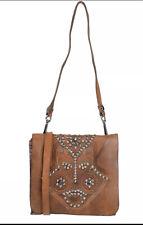 Gorgeous Campomaggi Cognac Studded Leather Handbag