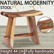 vidaXL Solid Suar Wood Stool Polyresin Bathroom Kids Low Height Wooden Seat