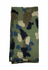 Rare Zara Man Camo Blanket Scarf Oversized Raw Hem Unused No Tags Accessory