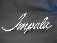 Old Vtg Car Auto Chevrolet Impala Metal Grille Emblem Ornament Nameplate