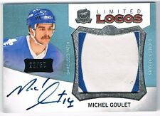 2012-13 THE CUP LIMITED LOGOS AUTOGRAPH PATCH #LL-GO MICHEL GOULET 22/50 !!