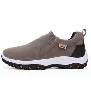 Mens Hiking Walking Shoes Casual Driving Moccasins Boat Slip On Sneakers Sports