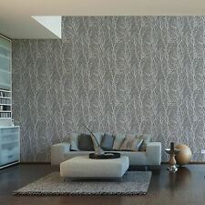 TREE BRANCHES WALLPAPER DARK GREY & SILVER - AS CREATION 300943 FOREST EMBOSSED