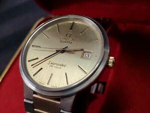 Vintage Men's Omega Seamaster de Ville Quartz Watch ~ Running ~ In Box