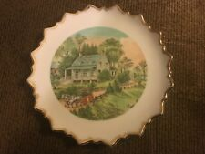 Vintage Currier And Ives Summer Plate