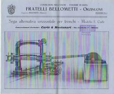 Costruzioni meccaniche - fonderie di ghisa: fratelli Bellometti: Orzinuovi: sega