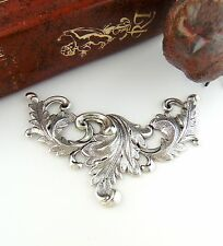 SILVER SCROLLING LEAVES ~ Large Art Nouveau Acanthus Leaf Stamping (FC-11)