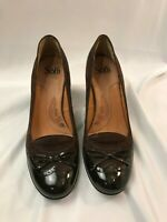 Women's Sofft Slip On Pumps Burgundy Shoes Size 10 Heeled Leather #1035820