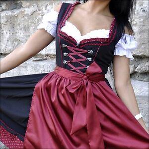 130.-- Dirndl Trachtenkleid 3Tlg. Oktoberfest Gr.34 bis 52 !!ORIGINAL LIFOS!!