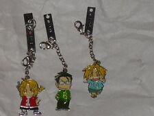 Full Metal Alchemist - 3 Cell Phone Charms - Edward Elric Maes Hughes Fma chains