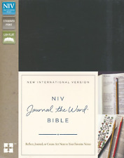 NIV Journal Word Bible Hardcover Black Reflect Journal or Create Art BRAND NEW!!