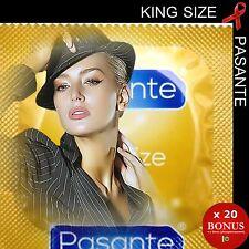 """x 20 préservatifs 💖 PASANTE KING SIZE 💖 + Longs + Larges """"Effet XL"""""""