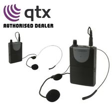 QTX Neckband Mic + Beltpack for QXPA-Plus & PAV8 Portable PA Units UHF 864.8MHz