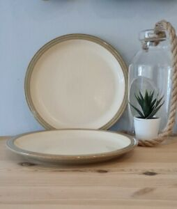 """Denby Camelot stoneware 10"""" dinner plates X 2 (Lot 1 of 2)"""