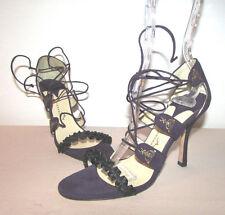 $555 Alexandra Neel Vogue purple suede sandals pumps shoes heels 36.5 NWB