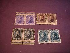 Honduras Stamp Scott# 30-34 President Morazan 1878 Pairs  MNH   C296
