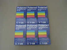 Polaroid Supercolor Plus T-120 Video Cassete Blank Tapes Lot of 6