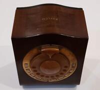 Vintage Philco 1930s  Mystery Remote Control AM Console Wooden Tenite Bakelite