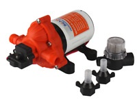 SEAFLO 12V 3.0GPM 45PSI Water Pressure Pump Self-Priming Marine Boat Adaptors