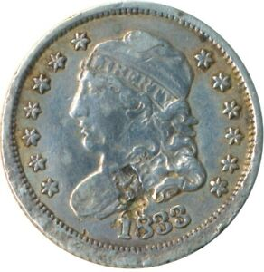 UNITED STATES 1833 SILVER HALF DIME 5 CENTS LIBERTY    #WT5301