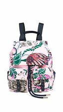 Tory Burch Women's Tilda Floral Print Flap Pocket Medium Nylon Backpack