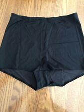 Vintage Wonderbra Black Boy Short Panties Black Stretchy Fabric Size XL New