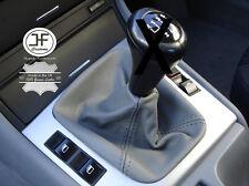 FITS BMW E36 E46 3 SERIES 1992 - 2005 GREY GEAR GAITER COVER GENUINE LEATHER