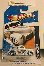 '41 Willys #152 * WHITE Walmart Only * 2011 Hot Wheels * Z15