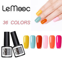 LEMOOC 8ml Summer Series Gellack Soak Off  Colorful UV LED Gel Nagellack