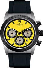 Tudor Fastrider CHRONO M42010N-0007 Giallo Quadrante Nero Cinturino in gomma men's Watch