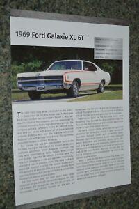 ★★1969 FORD GALAXIE 500 XL INFO SPEC SHEET PHOTO FEATURE PRINT 69 GT★★