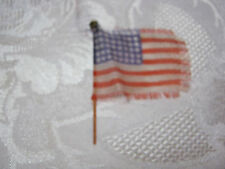 "ANTIQUE TOY SMALL 2"" AMERICAN FLAG  FOR TOY FIGURES  T*"