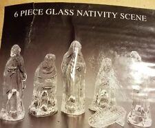 6 PIECE GLASS NATIVITY SCENE*New*Free Shipping*