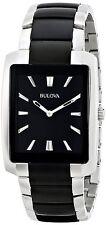 Bulova Men's Two Tone Rectangle Watch 98A117