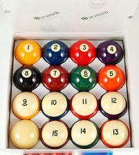 """Belgian Aramith Crown Standard 2 1/4"""" Pool Balls set, FREE SHIPPING"""