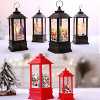 Christmas Candlestick Lantern Light Candle Holder Lamp Bulb Home Party Decor