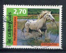 FRANCE - 1998, timbre 3182, CHEVAL, Le CAMARGUAIS, oblitéré