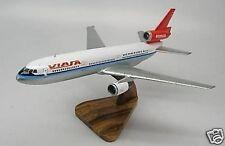 DC-10 Viasa Airlines Douglas Airplane Mahogany Kiln Wood Model Small New
