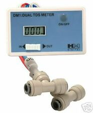 DM-1 Inline Dual TDS Water Quality Monitor Meter Tester Reverse Osmosis RO water