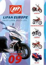 Lifan Prospekt 2009 Wild 250 400 Rocket 125 Ryal 400 S Broschüre Motorrad China