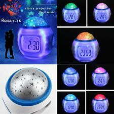 LED Digital Music Alarm Clock Temperature Time Date Night Light Music Snooze