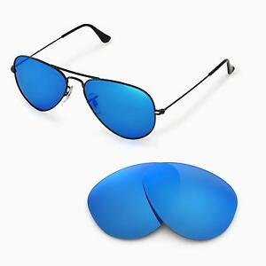 Walleva Replacemen?t Lenses for Ray-Ban Aviator RB3025 55mm - Multiple Options