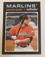 2013 Topps Update Mini Giancarlo Stanton Insert Card TM-39 Miami Marlins