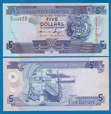 Solomon Islands 5 Dollars C/8 P 26 New Signature UNC Low Shipping! Combine FREE!