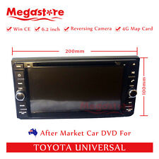 "6.2"" Car DVD GPS Navigation Head Unit Stereo Radio For Toyota Universal"