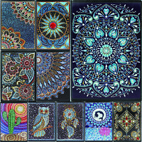 Mandala DIY 5D Special Shaped Diamond Painting Cross Stitch Art Kits A5 Notebook