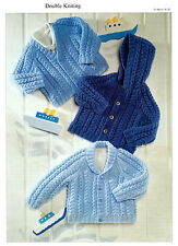 Baby Cardigan Jacket With Hood in DK Knitting Pattern 0168