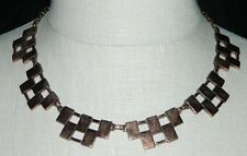 VTG Matisse RENOIR Signed RARE Checkered Choker Necklace